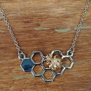Honey Comb 2-Tone Necklace
